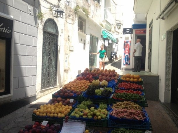 Capri, étal