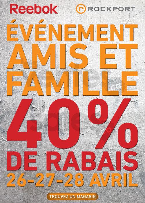 Reebok Amis Amp Famille Rabais De 40 Lesventesca