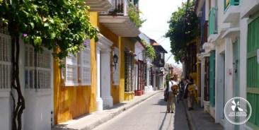 Musiciens dans une rue à Cartagena en Colombie