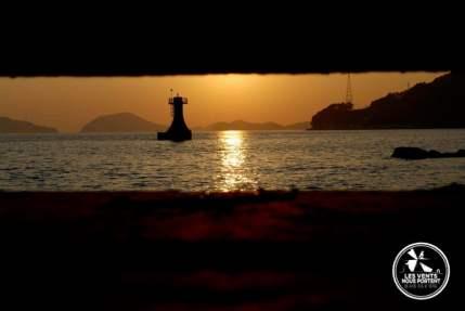 Coucher de soleil sur Ile de Hansando Coree du Sud