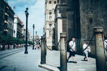 Autour de la cathédrale de seville, voyage en espagne