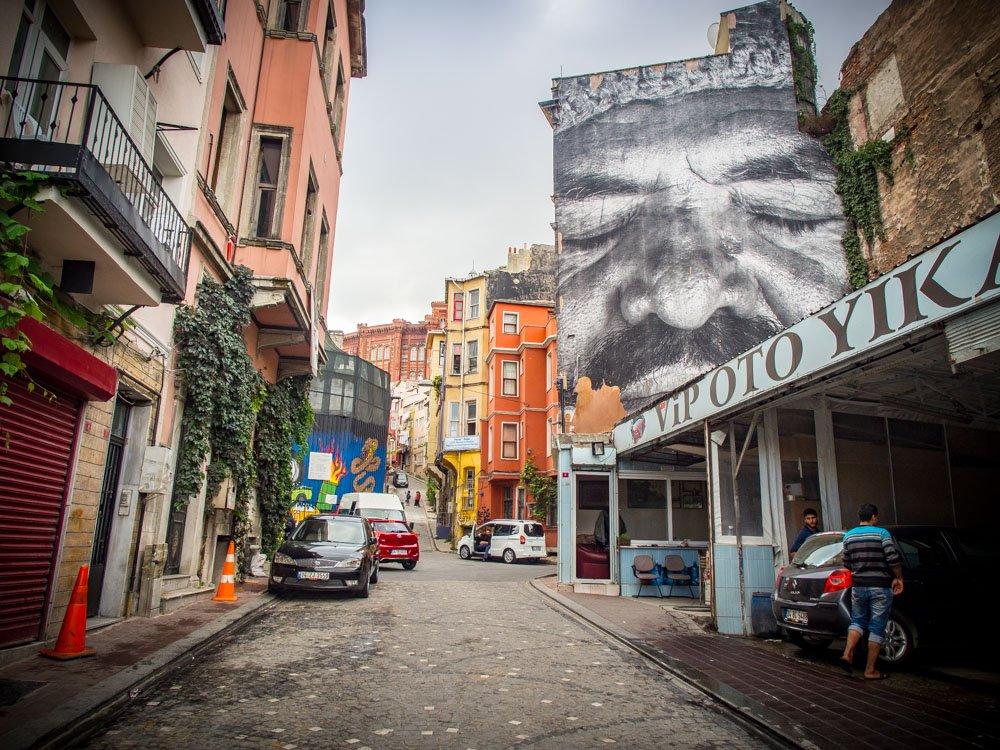 JR street art balat istanbul