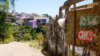 chemin de traverse à valparaiso au chili