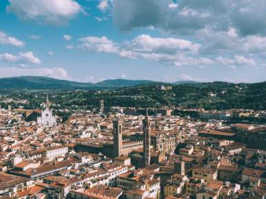 florence vue depuis le campanile en toscane