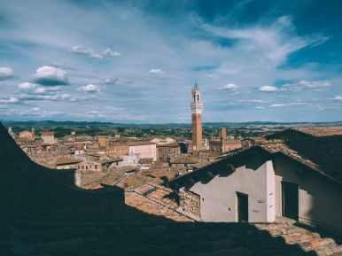 vue depuis la cathédrale de sienne en toscane