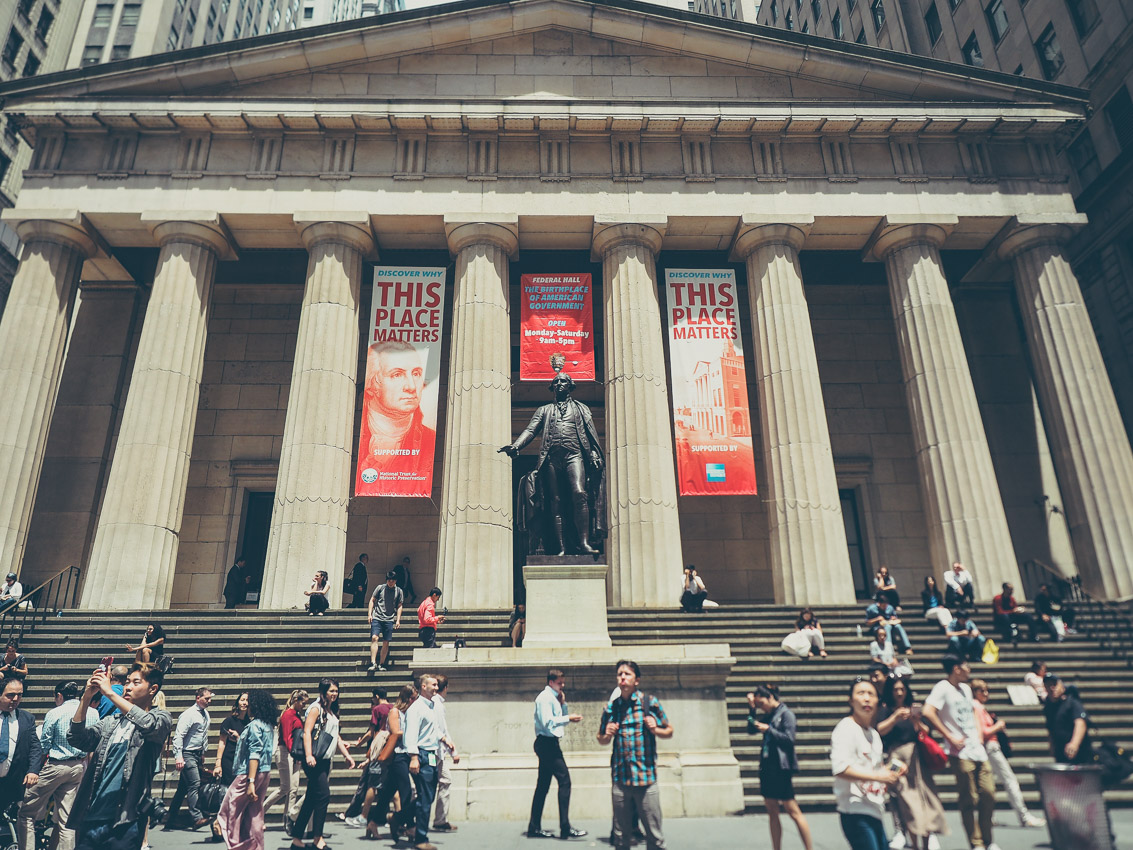 Visiter New York et Financial district, le Federal Hall