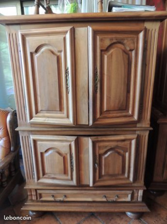 meuble tv bois massif vintage