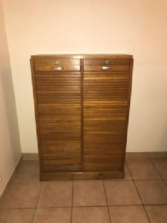 meuble classeur a rideau vintage