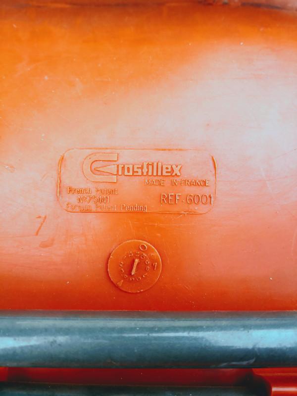 paire de chaises orange grosfillex