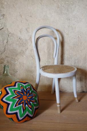 chaise enfant fauteuil bois courbe thonet vintage