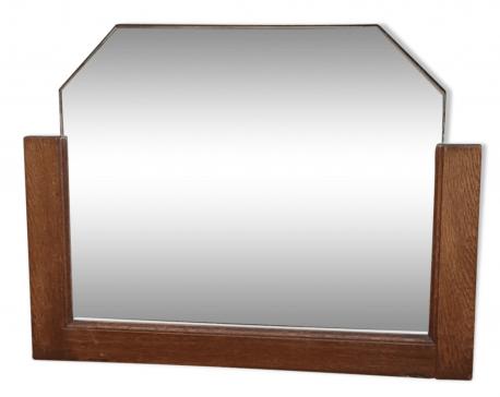 miroir biseaute vintage des annees 50 cadre bois vintage les vieilles choses