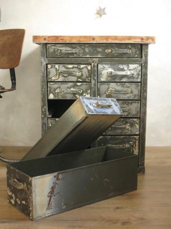 meuble industriel metal et bois vintage les vieilles choses