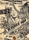 "10 mai 1985 Nada, Rognon Fou, The Plastic Girbax, Berurier Noir à Toulouse ""le Bikini"""