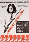 """5 novembre 1985 City Kids, Dau Al Set, Dogs, Berurier Noir à Toulouse """"Parc des Expositions"""""""
