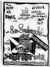"""13 mars 1987 Les Endimanchés, Ludwig Von 88, Berurier Noir à Lisieux """"Hall des Expositions - Salle Canada"""""""