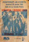 """29 Janvier 1993 Burning Heads, Noir Desir à Fontenay le Comte """"Salle de la grande prairie"""""""
