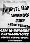 """10 octobre 2015 Rock'n'Bones, Gasteropodes Killers, Brigitte Bop à Chatillon Sur Loire """"Centre Medico Social"""""""