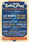 """15 Mars 2013  les Wampas, Boulevard des Airs, Diego Pallavas, Lolito à Cambrai """"Palais des Grottes"""""""
