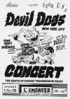 """5 avril 1992 Unkwones, Bubble Beer, Devil Dogs à Orléans """"l'impasse"""""""