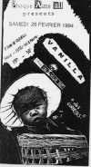 """26 février 1994 Cross On Your Past, Dirty Spirit, Vanilla à Saint Jean de la Ruelle """"Salle des Fêtes"""""""