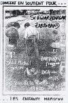 "11 mai 1994 DCA, Zarbi Band, Dead Michel Simon, Zarmazone, Autonomia Indigena, Schwarzenagar à Saint Jean de la Ruelle ""Salle des Fêtes"""