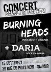 "18 mai 2013 Daria, Burning Heads à Saumur ""Le Butterfly"""