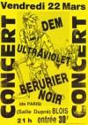 """22 mars 1985 Ultraviolet, D.E.M., Berurier Noir à Vienne """"Salle Dupré"""""""