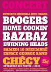 """10 décembre 2016 Boogers, Home Cookin', Bazbaz, Burning Heads à Checy """"Espace George Sand"""""""