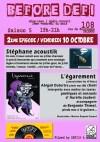 """10 octobre 2014 Stephane Acoustik, L'égarement à Orléans """"le 108"""""""