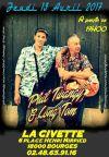 """13 avril 2017 Phil Twangy & Long Tom à Bourges """"La Civette"""""""