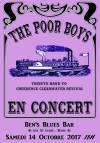 """14 octobre 2017 Poor Boys à Blois """"Ben's Blues bar"""""""