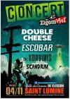 """4 novembre 2017 Scandium, The Konbinis, Escobar, Double Cheese à Saint Lumine de Clisson """"Salle des Garennes"""""""