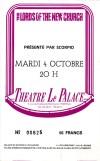 "4 Octobre 1983 The Lords Of The New Church à Paris ""Theatre le Palace"""