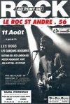 11 aout 1990 Les Dogs, Les Garçons Bouchers, Raftink, Kurt, Red Alert, Red London, Mister Moonlight au Rock Saint Andre