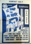"Aout 1990 GBH, Vindicators, Dirty District, Long Tall Texan, Restless, Goat, Dizzy Romeo, M's, BB Doc, Cosmic Wurst, Real Cool Killers, Crow Dadies, Babylon Fighters à Quimperlé ""Salle des Fetes"""