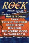6 Juillet 1996  Emma, Sons of the Desert, Eddie Floyd, Big Soul, The Young Gods, La Famille Boost à Malestroit