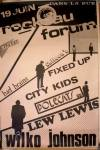 19 juin 1982 Bad Brains, Celteen's, Fixed Up, City Kids, Polecats, Lew Lewis, Wilko Johnson au Havre