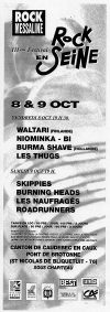 8 octobre 1993 Waltari, Niominka Bi, Burma Shave, Les Thugs à Saint Nicolas de Bliquetuit