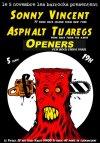 """5 novembre 2011 Sonny Vincent, Asphalt Tuaregs, Openers à Saint Ouen """"le Picolo"""""""