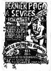 """13 decembre 1987 (?) Satelittes, Beurk's Band, Chihuahua, Boules a King Kong, Mano Negra (?) à Sevres """"CAC"""""""