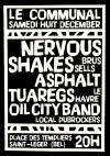 "8 decembre 2018 Nervous Shakes, Asphalt Tuaregs, Oil City Band à Saint Leger ""le Communal"""