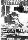 """27 juillet 1985 Negazione, Ludwig Von 88 à Barcelone  """"Casal de Guinardo"""""""