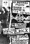 """21 janvier 1996 Gang Jah Gang, No Talents, Hells Crack à Paris """"Bar l'Ecureuil"""""""