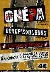 """21 janvier 2006 Chepa, Dekapsouleurs, Chomage Riders au Havre """"Cafette"""""""