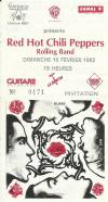 """16 février 1992 Red Hot Chilli Peppers, Rolling Band à Paris """"Zenith"""""""