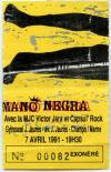 "7 avril 1991 Mano Negra à Champs Sur Marne ""MJC Victor Jara"""