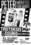 """8 mai 1986 Peter And The Test Tube Babies, Trotskids, La Souris Déglinguée à Paris """"El Globo"""""""
