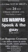 24 mai 1997 Rageous Gratoons, Spook & Guay, les Wampas à Cissac Medoc