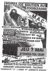 "7 mai 1998 Belly Button, Wonkee Monkies, Krutzfeld, Hutch, Sleepers, Artok, Mister Say So, Glu, Les Oisillons tombés du nid, les Trotinettes, Moon Hop, Naninana à Talence ""la MAC"""