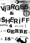 4 juin 1986 Les Vierges, les Sheriff à La Gerbe